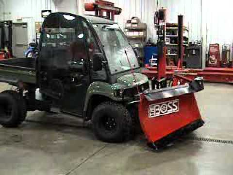 John Deere Gator Plow >> Boss UTV Snow Plow Attachment Demo - YouTube