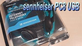 sennheiser PC8 USB headset UNBOXED! (4K)