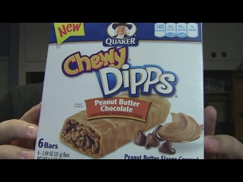 WE Shorts - Quaker Chewy Dipps Peanut Butter Chocolate Granola Bars
