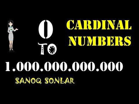 Cardinal numbers in English | Ingliz tilida Sanoq sonlar | Numbers| Raqamlar