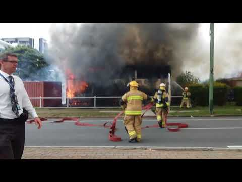 gold coast house on fire - anzac day