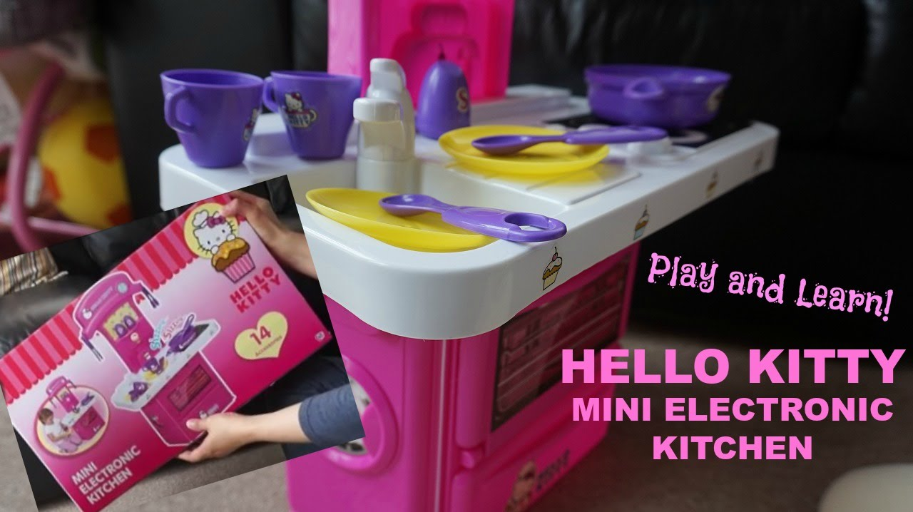 Hello Kitty Mini Electronic Kitchen - Unboxing with Learning   K\'s ...