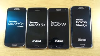 Samsung Galaxy S6 Edge VS A5 VS S5 VS S4 - Speed Test!