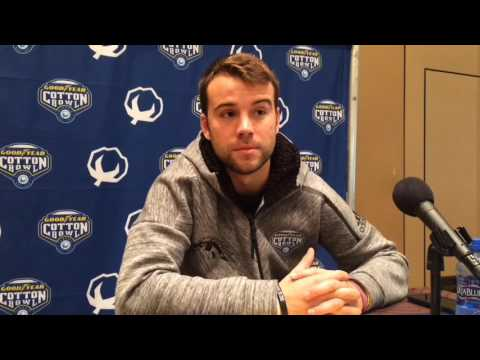 Western Michigan QB Zach Terrell speaks at Cotton Bowl media session