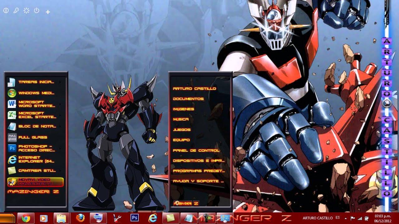 Feature Wall Wallpaper 3d Tema Para Windows 7 De Mazinger Z Youtube