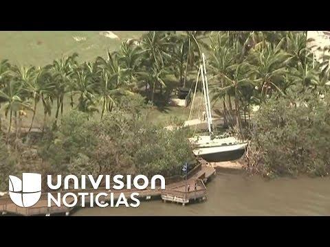 Imágenes aéreas del Condado Miami-Dade en Florida tras el paso de Irma