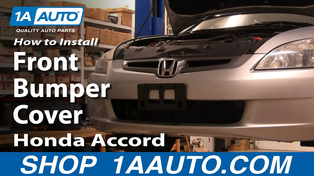 How To Install Replace Front Bumper Cover Honda Accord 04 07 1aauto Com Youtube