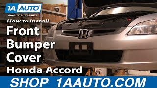 How To Install Replace Front Bumper Cover Honda Accord 04-07 1AAuto.com