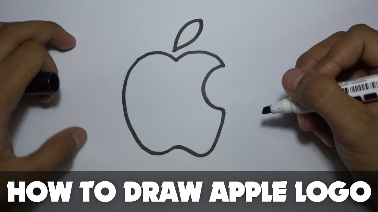 Drawing How To Draw A Cartoon Apple Logo Tutorial Step By Step