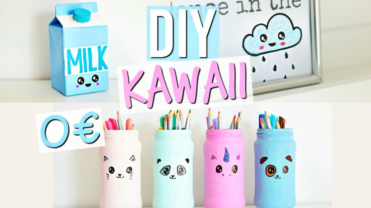 diy 0 kawaii deco chambre pas ch re room decor fran ais youtube. Black Bedroom Furniture Sets. Home Design Ideas