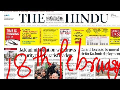The Hindu Newspaper 18th February 2019