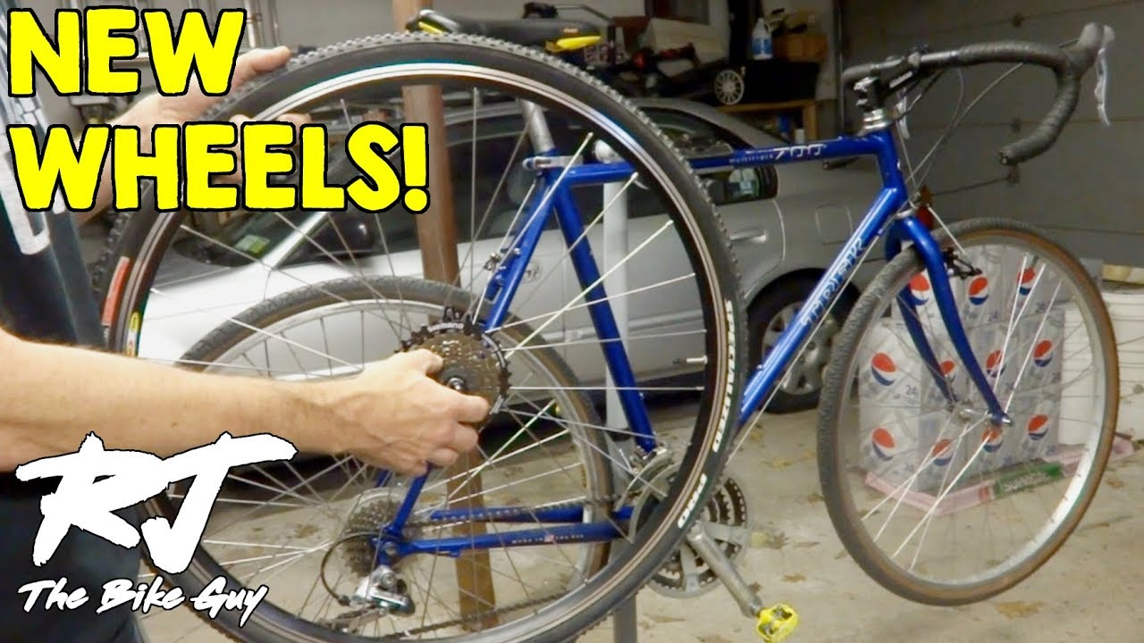 Diy Cyclocross Bike Project Upgrading The Wheels Youtube