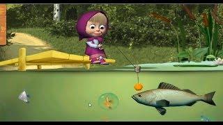 Маша и Медведь Маша На Рыбалке Ловим Рыбу Детская Игра