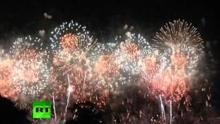 В Лондоне началась Олимпиада(Церемония открытия Олимпийских Игр в Лондоне закончилась красочным фейерверком. Vkontakte - http://vk.com/rt_russian..., 2012-07-28T07:15:46.000Z)