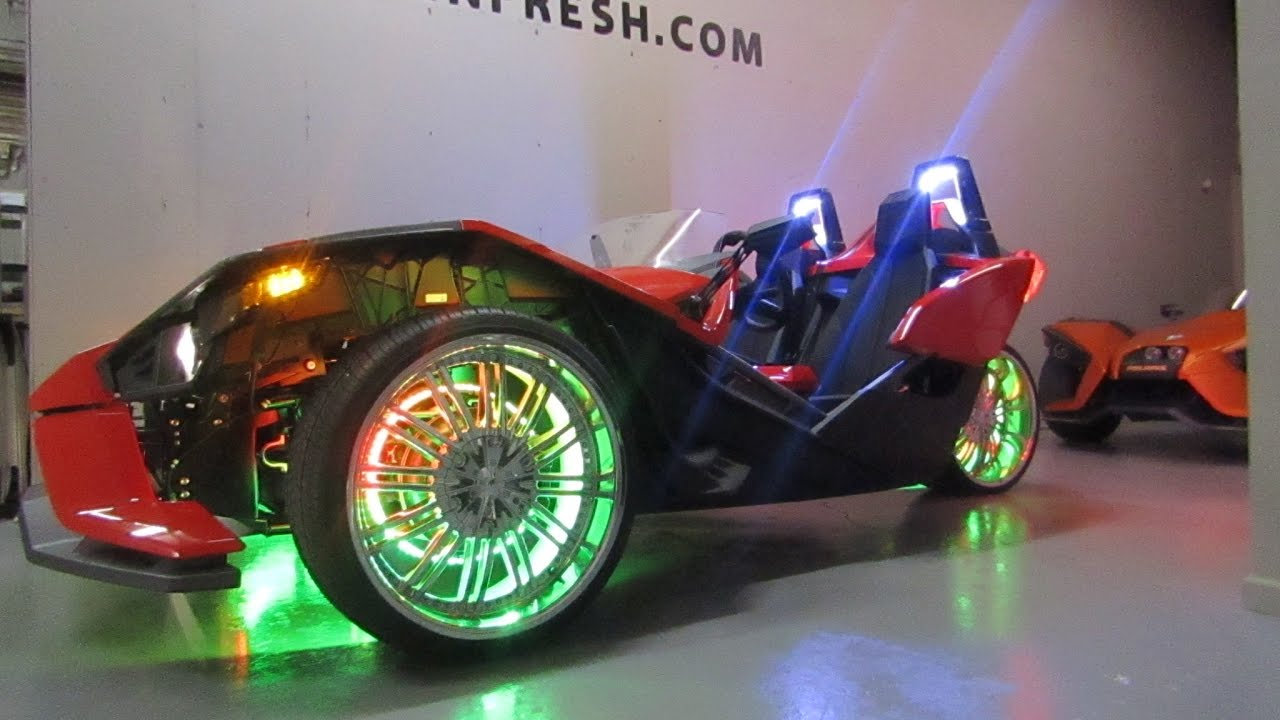 Polaris Slingshot Wheel Lights Motion Wheel Light Kit By