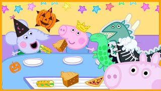 Peppa Pig Halloween Party with Food and Games Videos for Kids