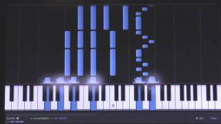 Taylor Swift Today Was a Fairytale Piano Synthesia Tutorial (80%) How-To Play