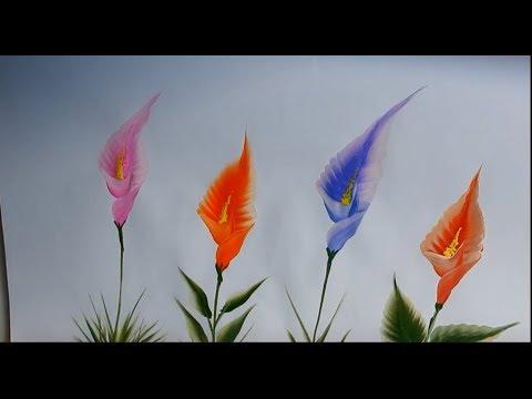 callas-painting-/-one-stroke-callas-/one-stroke-flower