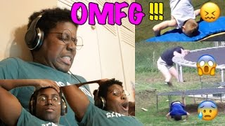 REACTING TO BAD TRAMPOLINE FAILS!