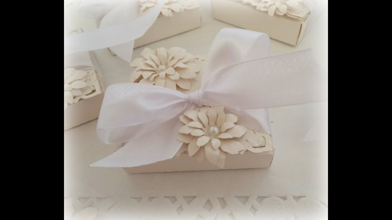 Wedding Favours With Sizzix Bigz Shaker Box Die Youtube