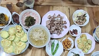 #집밥#콩나물냉국#돼지고기꽈리고추장조림#깻잎찜#꽈리고추…