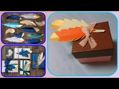 how to make paper feathers | paper feather tutorial | DIY Craft Ideas