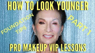 How To Look Younger! Foundation Tutorial For Mature Skin | mathias4makeup