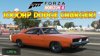 Forza Horizon 4 - 1,000HP DODGE CHARGER DRAG BUILD!