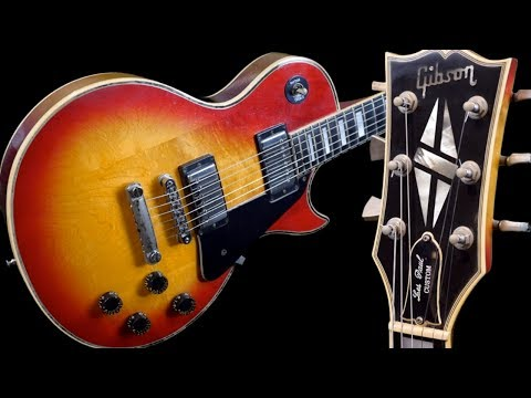 How to Tell It's Factory Chrome | 1981 Gibson Les Paul Custom Cherry Sunburst | Review + Demo
