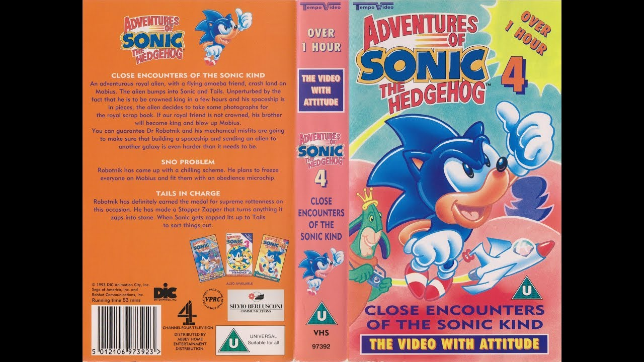 Original Vhs Opening The Adventures Of Sonic The Hedgehog Volume 4 Uk Retail Tape Youtube