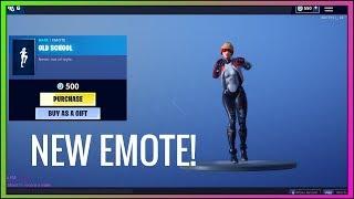 *NEW* OLD SCHOOL EMOTE! (Season 9) Fortnite Item Shop NOW - Fortnite Battle Royale