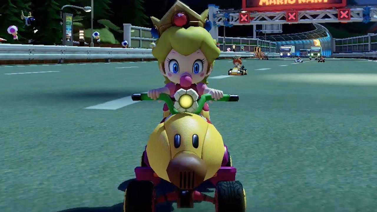 Baby Mario Mario Kart 8: Shell Cup 100cc (Baby Peach Gameplay