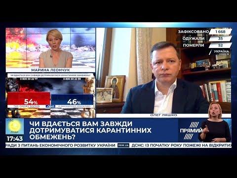 Олег Ляшко: Ляшко в ефірі Прямого каналу. 08.04.2020