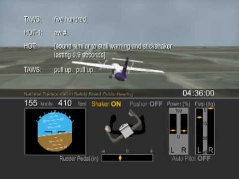 ATR-42 aircraft accident animation, Lubbock, Texas, January 2009