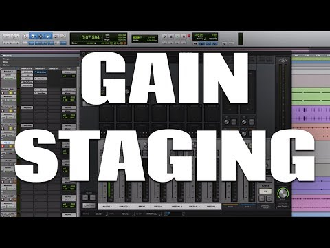 Gain Staging During Recording, Mixing and Mastering