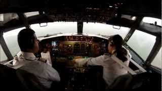 Top 10 Airlines - PILOT GIRL LANDING AT CANCUN INTERNATIONAL AIRPORT.... !! GO PRO