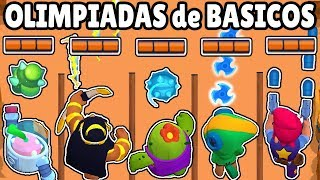 WHAT IS THE STRONGEST BASIC ATTACK? | BASICS BRAWL STARS OLYMPICS | WHICH DOES MORE DAMAGE?