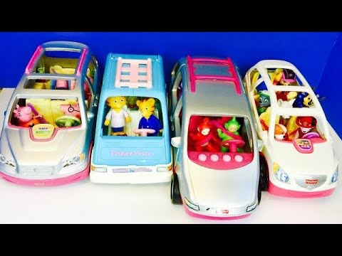 Musical FISHER PRICE SUV Van Collection with PEPPA Pig, TELETUBBIES & PAW Patrol Toys!