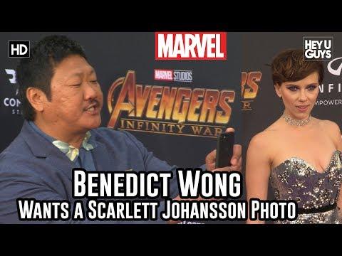 Benedict Wong Wants a Scarlett Johansson Photo! Avengers Infinity War World Premiere
