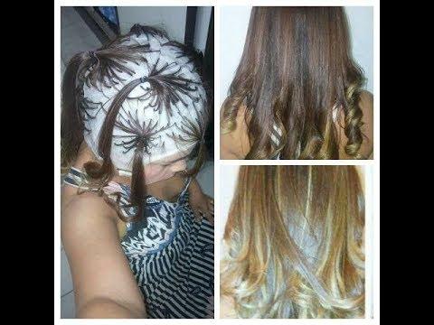 Ombre Hair Na Touca Com A Tecnica Da Xuxinha Fiz Em Casa Sozinha