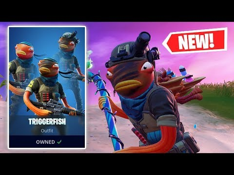 NEW TRIGGERFISH Skin Gameplay In Fortnite!