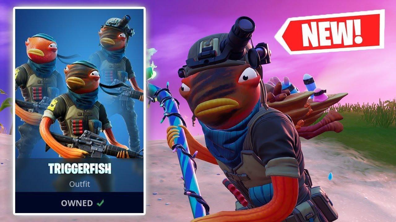 New Triggerfish Skin Gameplay In Fortnite Youtube