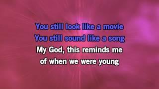 Karaoke - Adele - When We Were Young