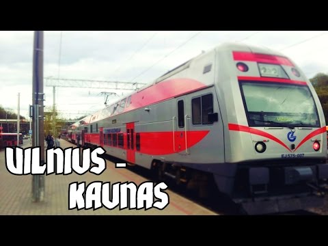 ★ Lithuania train ride ★ Vilnius to Kaunas: Double-Decker, Full route - 60p HD