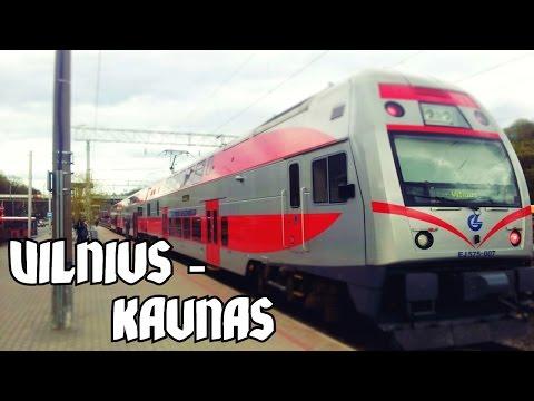 ★ Lithuania train ride ★ Vilnius to Kaunas: Double-Decker, Full route - 60p HD
