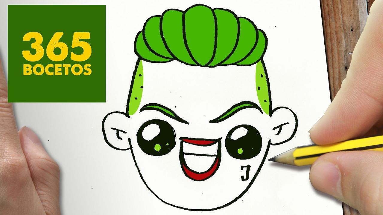 Como Dibujar Joker Kawaii Paso A Paso Dibujos Kawaii Fáciles