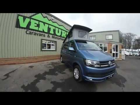 VW Campervan 2016 T6 Acapulco Blue With Bournville Interior