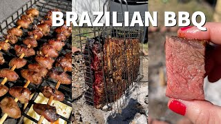 My neighbors invited me over for Brazilian BBQ