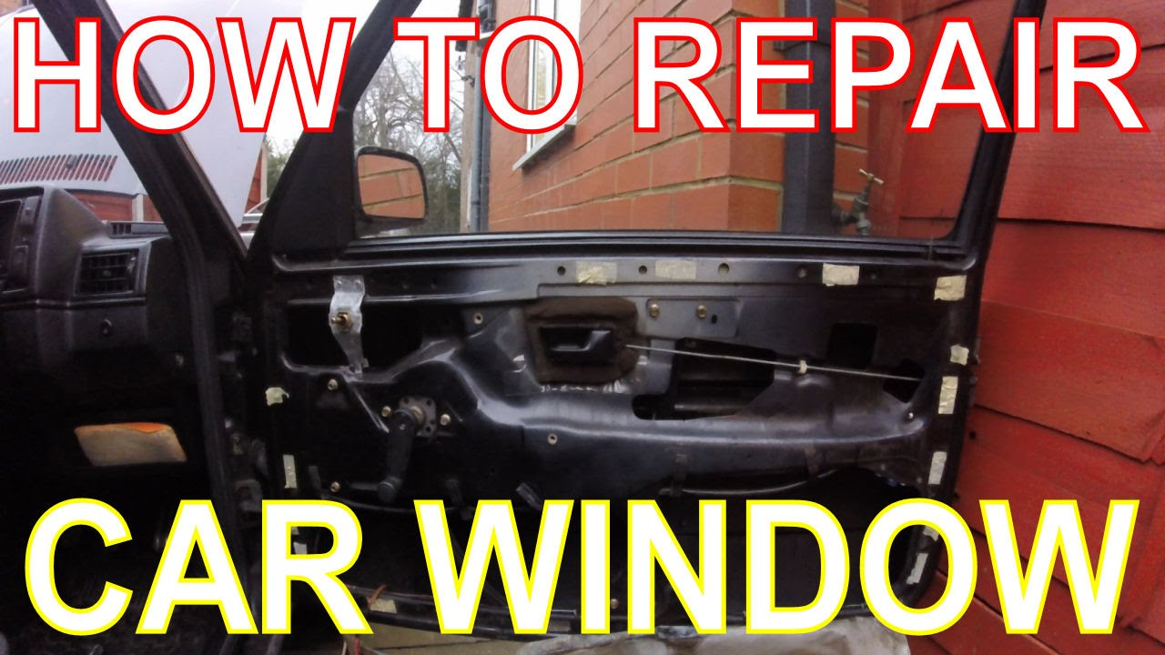 Cheap Car Window Replacement >> How to Repair a Car Window. Replacing the Window Winder Mechanism. VW Golf Mk2 - YouTube