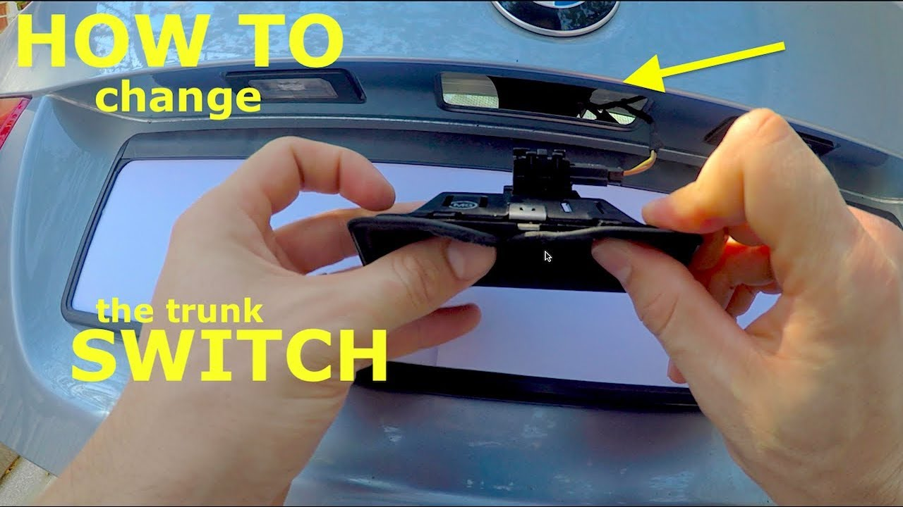 How To Change The Trunk Latch Actuator Switch In A Bmw E90 Lci
